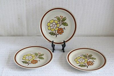 "Imperial Stoneware SUMMERTIME H-1001 COUNTRYSIDE H-1000 7 1/2"" Salad Plates (2)"