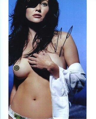 Shannen Doherty Topless Just Beautiful Original Autograph 8x10 Signed Photo COA