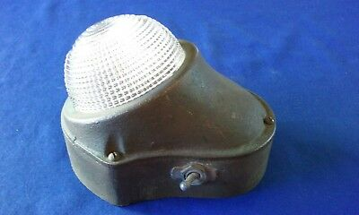 NOS Brass Russell & Stoll Co. Marine Light or Lamp, Boat Ship, Holophane Lens