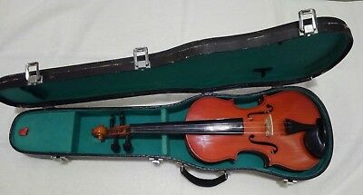 Old Antique Italian Violin Marked Laurentius Bellafontana 1949 Also Signed.