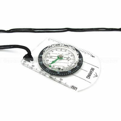 Portable Compass MM INCH Travel Scale Ruler Baseplate Military Compass Map