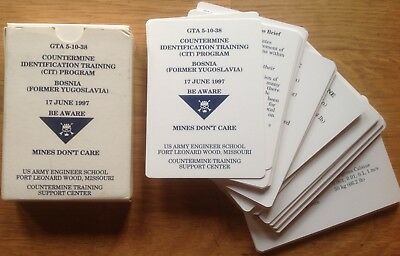 Original 1997 Eod Manual/identification Cards: Bosnia, Mines, Fuzes, Booby Traps
