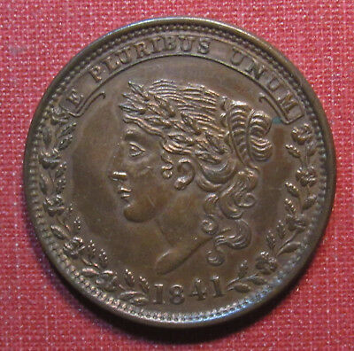 1841 Hard Times Token - Liberty Head, Specie Payments Suspended May Tenth 1837!