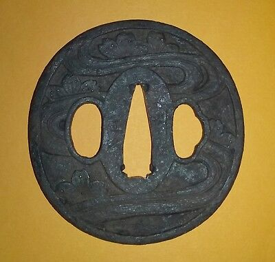 Antique Japanese Samurai Tsuba Of The Edo Period – Cherry Blossoms