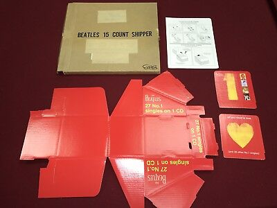 Brand New In Box promo The Beatles Counter Top Display 27 #1 Singles On Cd 2000