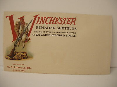 VINTAGE Original Winchester Repeating Fire Arms Duck & Gun Graphics Envelope