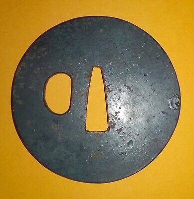 Antique Japanese Samurai Tsuba Of The Edo Period