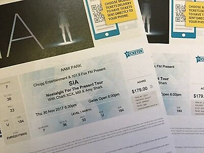Sia  - Music Concert – 2x Gold Section Tickets, Melbourne!!