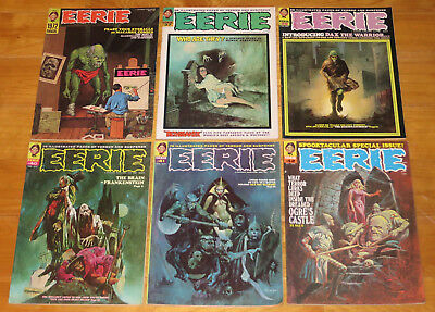 1972 Warren EERIE Lot 6 Issues 1972 Annual, No. 37, 39, 40, 41, & 42 No Reserve