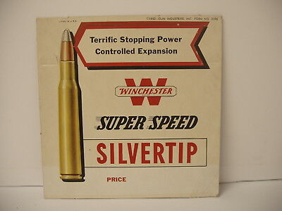 Original Winchester Super Speed Silvertip dealer display sign