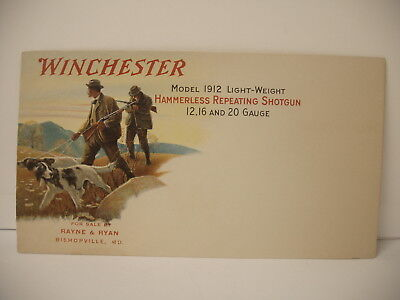 VINTAGE Original Winchester Repeating Fire Arms Hunter Dog Graphics Envelope