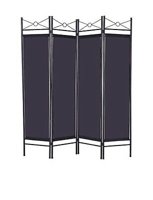 Folding 4 Panel Room Divider Screen Privacy Wall Movable Partition Separator UK