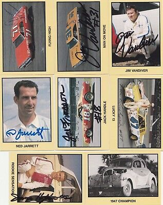 NASCAR TG Masters of Racing Autographed card lot
