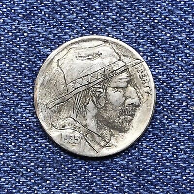 "1935 Hand Carved Original Hobo Nickel One Of A Kind! ""Uncle Grady"