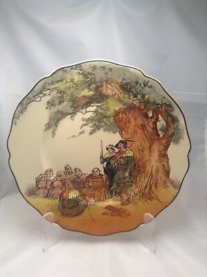 Lovely Vintage Royal Doulton Plate Under The Greenwood Tree Robin Hood D 6094