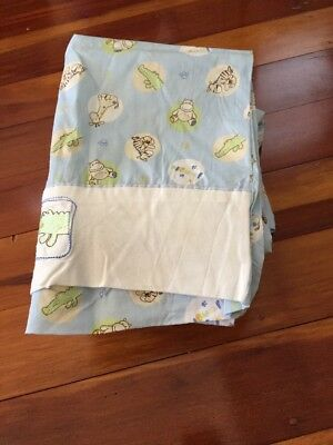 Bubba Blue Baby Cot Sheet Set And Quilt Euc
