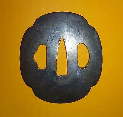 Antique Japanese Samurai Tsuba Of The Edo Period – For Court Attendance