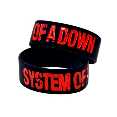 System of a Down rock band music Silicone Rubber Wristband bracelet jewelry