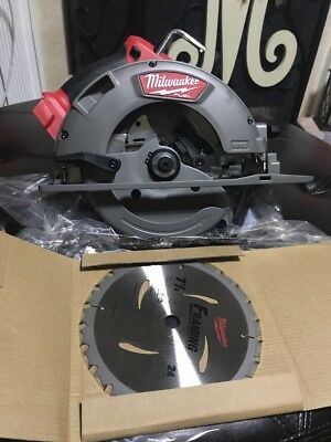 "Milwaukee 2731-20 M18 Fuel 7-1/4"" Cordless 18 Volt Circular Saw - Brand New!"