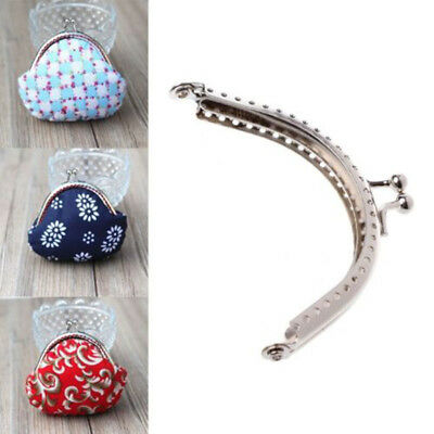 1Pc 2Pcs Sewing Purse Handbags Handle Silver Coin Bag Metal Clasp Frame 8.5cm UK