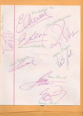 F1 1980's Vintage Autographed Papers