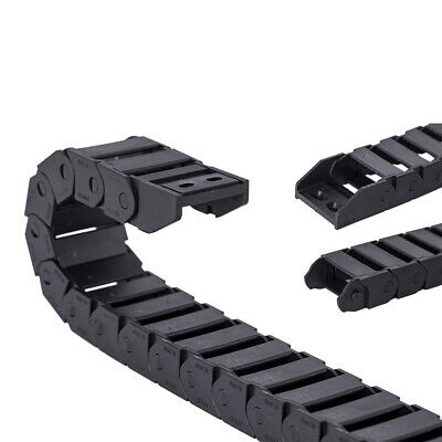Plastic Cable Drag Chain 15x20mm Non Snap-Open Towline 1M Transmission Chains
