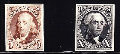 US 3P4-4P4 1875 Reproduction Issue Plate Proofs on Card XF SCV $500