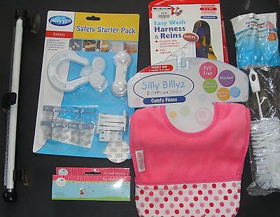 BRAND NEW Girls Items (Safety Pack, Harness, Wall Border, Bib)