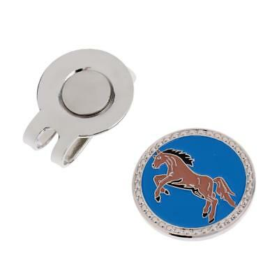 Zodiac Horse Alloy Magnetic Hat Clip with Golf Ball Marker for Golf Cap