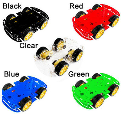 DIY 4WD Smart Robot Car Chassis Kits W/ Magneto Speed Encoder For Arduino 51 TOP