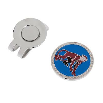 Zodiac Monkey Alloy Magnetic Hat Clip with Golf Ball Marker for Golf Cap