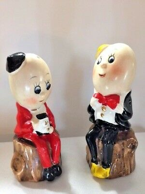 Vintage Rare Salt And Pepper Eggheads Photographing,japan,1930's