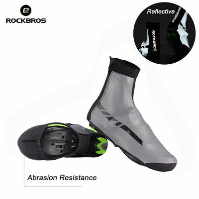 RockBros Cycling Reflective Shoes Cover Kevlar Fabric Waterproof Overshoes S/M