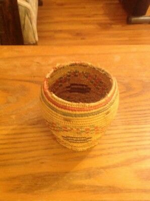 "Eskimo Basket 1950's - Handmade 3"" by 3"""