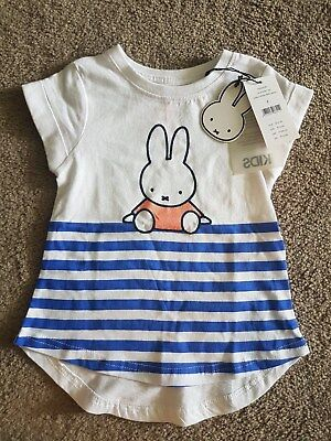 BNWT Kids Miffy Top - Size 1 (12-18 months) Rrp $19.95