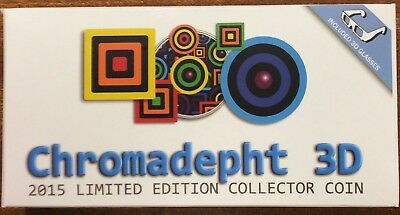 2015 chromadepht 3D limited edition proof coin $2 NIUE