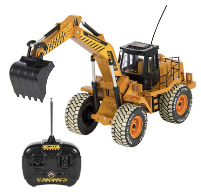 RC Excavator Tractor Digger Construction Truck Remote Control 6 Channel 1:10 NEW