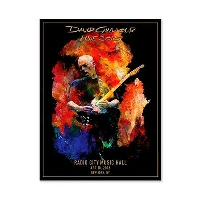 David Gilmour Pink Floyd Radio City Music Hall Tour Lithograph  377/450