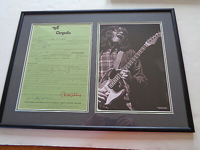 Rory Gallagher Autograph Signed Concert Contract Reading Town Hall March 1972