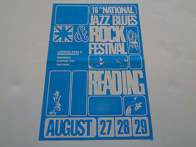 Ac/dc ,rory Gallagher Etc  16Th Reading Festival 1976 Uk Concert Flyer