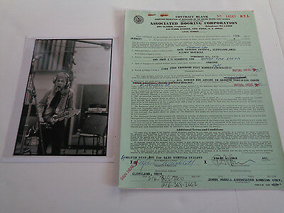 Allman Brothers Rare Duane Era Concert Contract Feb 25 1971 Case Western Res Oh