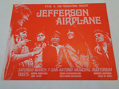 Jefferson Airplane Municipal Stadium San Antonio Tx 7 March 1970 Handbill/flyer