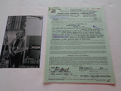 Allman Brothers Rare Concert Contract New Years Eve Show Dec 31St 1971 Spectrum