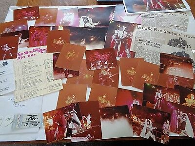Kiss Cedar Rapids 1979 Original Concert Lot Photo/negatives, Ticket ,flyer Etc