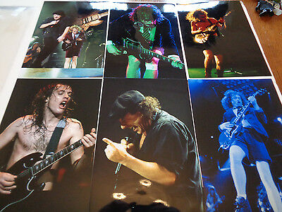 Ac/ Dc Seven Large Photographs With Copyright..great Shots