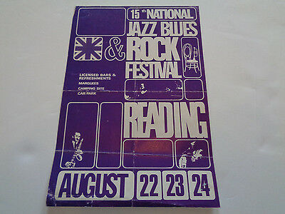 Yes ,thin Lizzy,lou Reed Etc 15Th Reading Festival 1975 Uk Concert Flyer