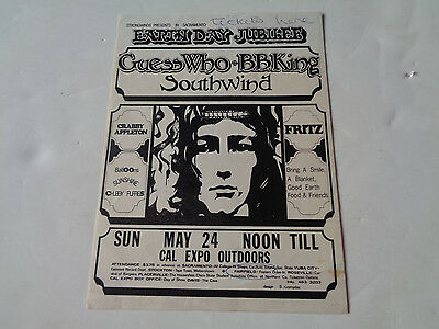 The Guess Who /bb King Early 1970S Concert Flyer