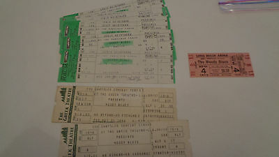 The Moody Blues 18 Vintage Concert Ticket Set