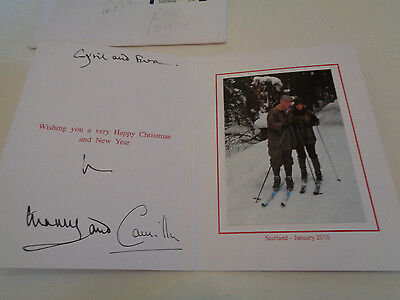 Prince Charles And Camilla Autograph / Signed Christmas Card