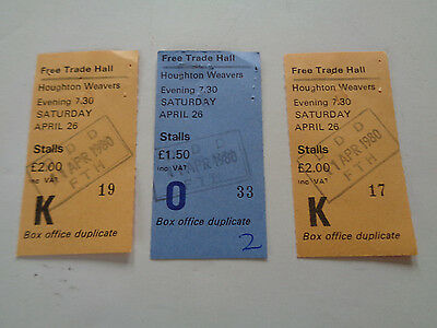 Houghton Weavers Concert Ticket Stub 26Th Apr 1980 Free Trade Hall Manchester Uk